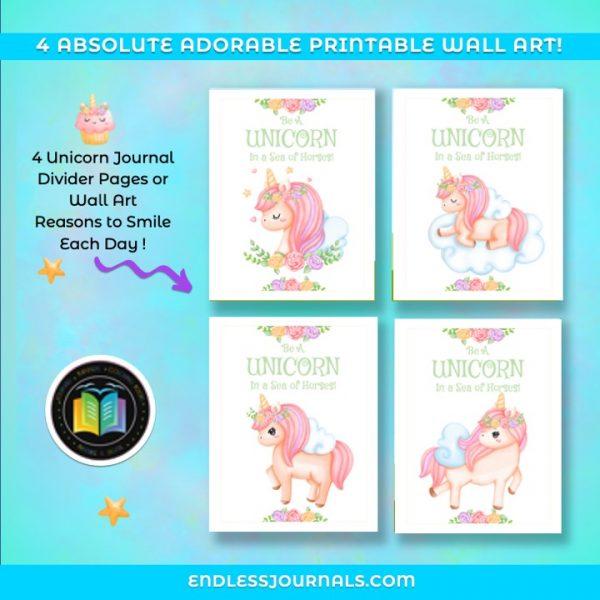 unicorn journal planner printable 05