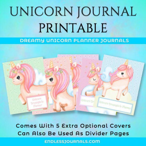 unicorn journal planner printable 07