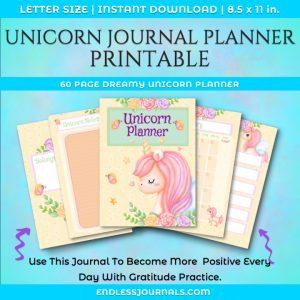 unicorn journal planner printable 01