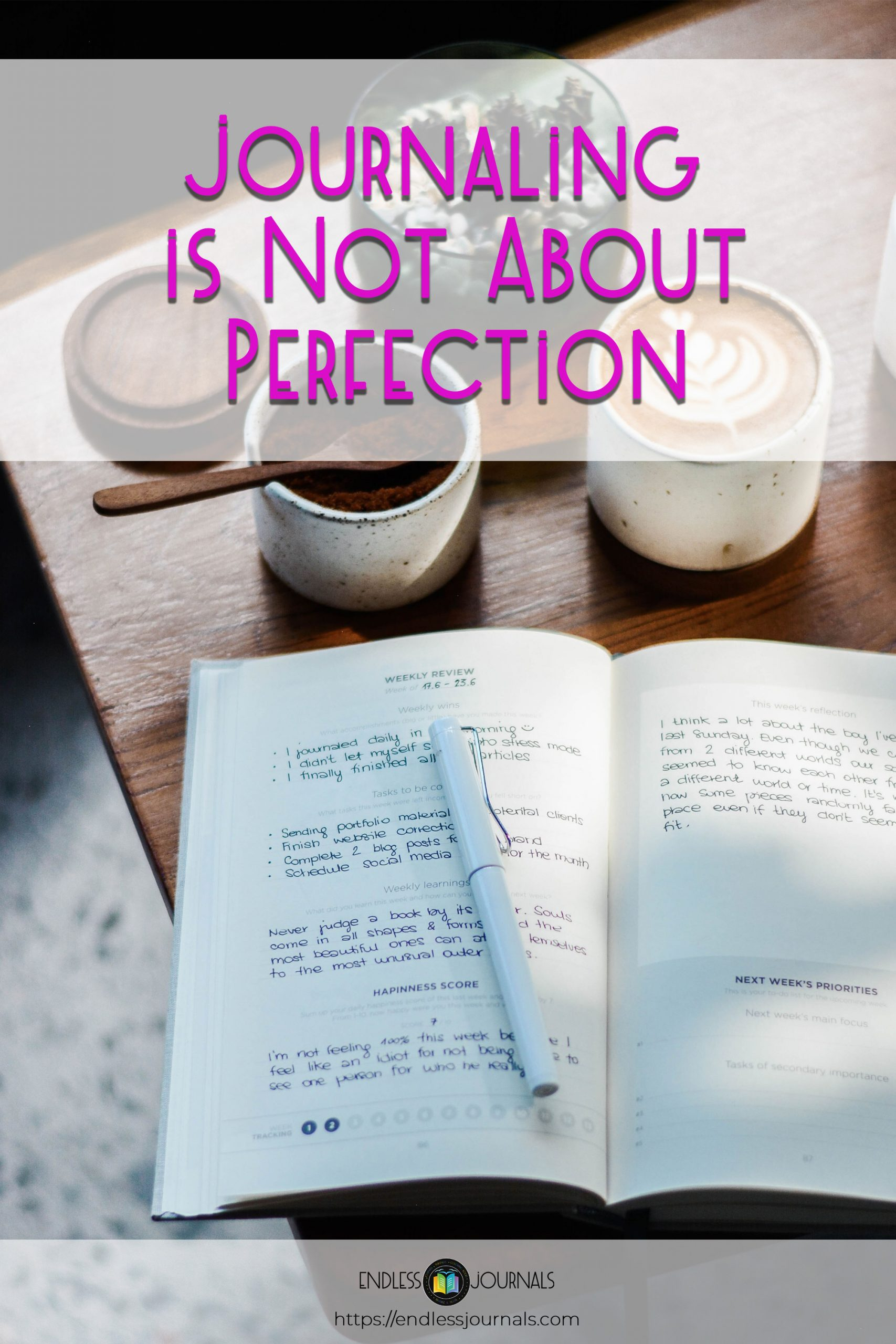 Journaling is not about perfection - pinterest 01